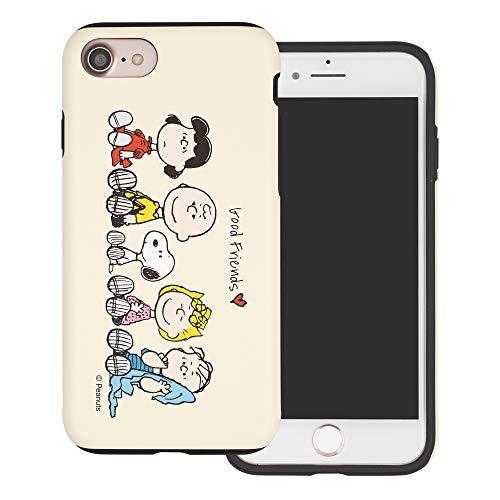 iPhone 6S Plus ケース/iPhone 6 Plus ケース と互換性があります Peanuts ピーナッツ ダブル バンパー ケース デュアルレイヤー 【 アイフォン6Sプラス / アイフォン6プラス 】 (ピーナッツ 友達 座) [並行輸入