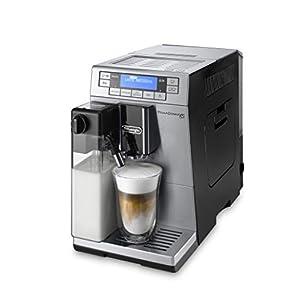 De'Longhi PrimaDonna XS Deluxe ETAM 36.365.MB – Cafetera Superautomática, 1450 W, 15 Bar Presión, Muy Estrecha 19.5 Cm, Pantalla Digital, Personalización Cafés, Plateada