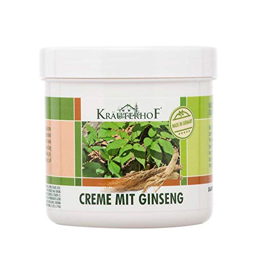 Kräuterhof® Creme mit Ginseng und Sheabutter Körpercreme Bodycreme Pflege Haut, 250 ml
