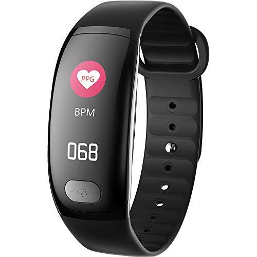 Ajac stappenteller, intelligente armband, kleurendisplay van de bloeddruk, ECG, multisport-armbandmodus (met hartslag), gezondheids-tracker (voor senioren en kinderen)
