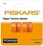 Original Fiskars Ersatzklingen für Papierschneidemaschinen, 2 Stück, Für gerade Schnitte, High Profile TripleTrack Titanium, Orange, 1004677 - 2