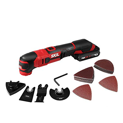 %10 OFF! Skil 20V Oscillating Tool Kit with 32pcs Accessories, Includes 2.0Ah PWR CORE 20 Lithium Ba...