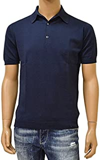 JOHN SMEDLEY(ジョン スメドレー)半袖ニットポロシャツ「STANDARD FIT」ejd16s002(ADRIAN:ネイビー)