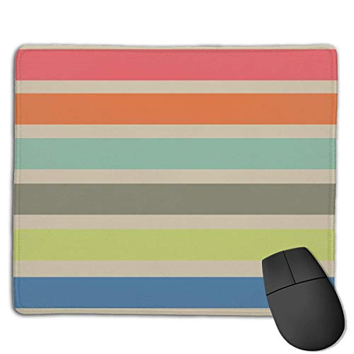 Gaming-Mauspad, Mauspads Colorful Line Funny Graphics Rectangle Rubber Mousepad Gaming Mouse Pad 9.8x12 Inch for Notebooks,Desktop Computers