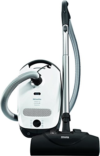 Miele Classic C1 Bagged Canister Vacuum, Lotus White