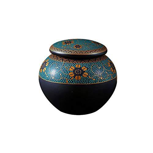 LIUTIAN Pot de thé en céramique, Pot de Rangement Domestique avec Couvercle, Table de Cuisine Décoration Cafetière, Pot de Condiment
