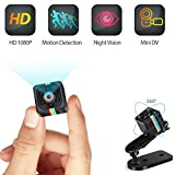 Mini Hidden Camera, HD 1080P Wireless Cop Cam Seen on TV Portable Small Nanny Cam with Motion Detection and Night Vision for Indoor Outdoor (SQ11)