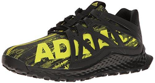 adidas Men's Vigor Bounce m Trail Runner, Black/Shock Slime/Black, 8 M US