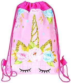 Cartoon unicorn horn nonwoven fabric drawstring bag
