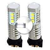 MCK Auto - Reemplazo para PW24W LED CanBus Juego de bombillas blancas muy claras y sin erros CC F30