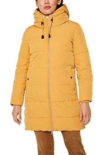 ESPRIT Damen 119EE1G014 Mantel, Gelb (Amber Yellow 700), Large (Herstellergröße: L)