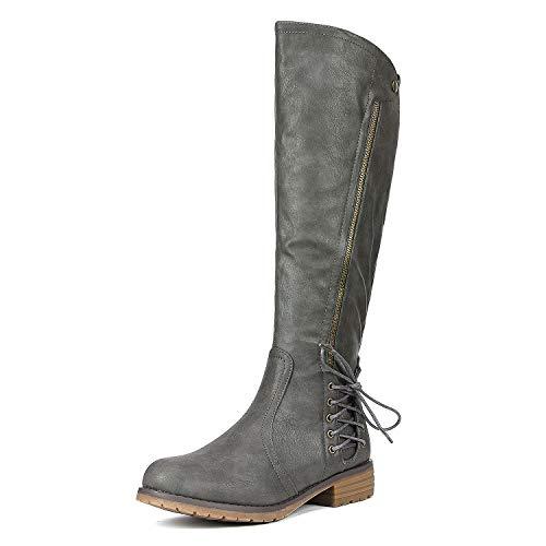 (50% OFF Coupon) Women's Side Zipper Knee High Riding Boots $18.50