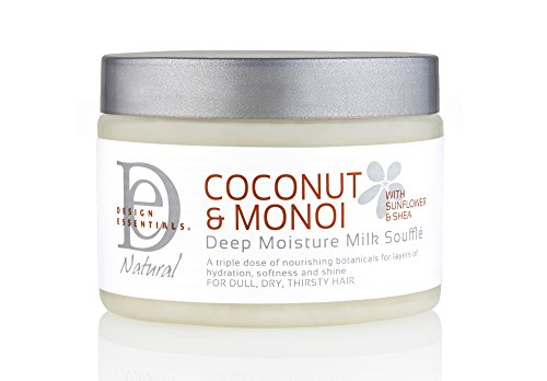 Design Essentials Deep Moisture Milk Souffle For Dull, Dry & Thirsty Hair - Coconut & Monoi Collection - 12 Oz