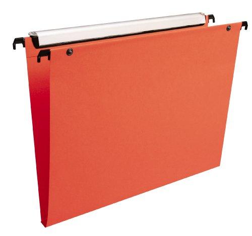Esselte Group Premium - Carpetas colgantes (10 unidades), color naranja, lomo 15mm