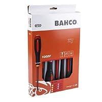 Bahco 9888S BE-9888s VDE Ergo Slot/Poziスクリュードライバーセット(7個)