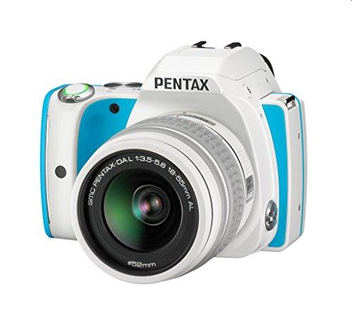Pentax K-S1 - Fotocamera reflex digitale 20 Mpix turchese + obiettivo DAL 18-55 mm + custodia bianca