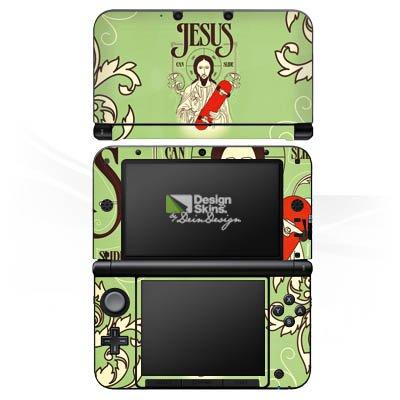 DeinDesign Skin kompatibel mit Nintendo 3 DS XL Aufkleber Sticker Folie Jesus Skateboard Lustig