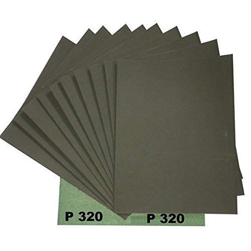 Ludwig Lacke Wasserschleifpapier 25 Blatt Grün Nassschleifpapier Körnung 320