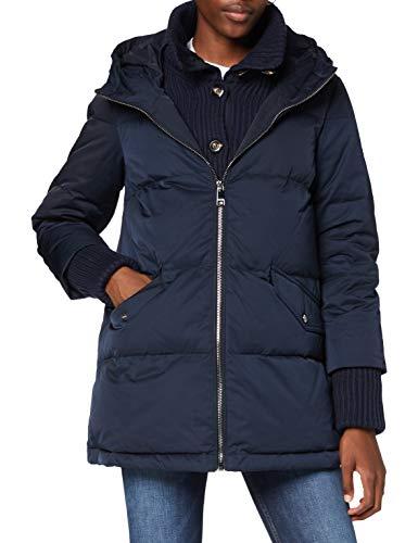 Tommy Hilfiger Damen Knit Mix Down Coat Jacke, Desert Sky, XL