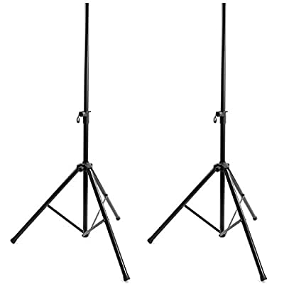 SSL Satellites Speaker Stand Kit with 2 Tripod Stands Portable Folding Stand Tailgate by SSL