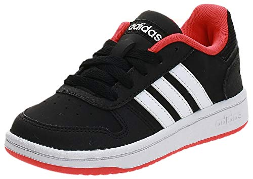 adidas Hoops 2.0 K Fitnessschuhe, Schwarz Core Black Footwear White Hi Res Red 0, 36 EU