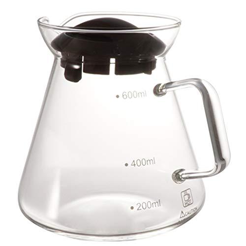 YQQ-Cafetière Coffee Pot Decanter/Carafe régulier - Nouvelle Forme de Verre Design - Poignée Ergonomique - 4-6 Capacité Coupe