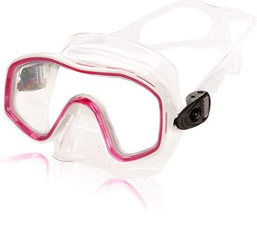 aquazon Kids Junior Schnorchelbrille, Taucherbrille, Schwimmbrille, Tauchmaske für Kinder, von 3-7 Jahren, sehr robust, tolle Paßform, Farbe:pink Junior