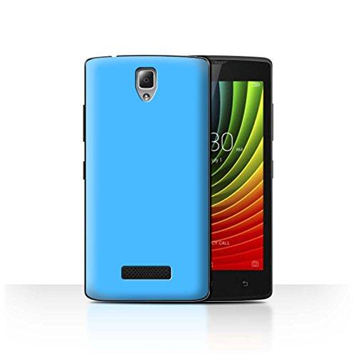 Hülle Für Lenovo A2010 Farben Hellblau Design Transparent Ultra Dünn Klar Hart Schutz Handyhülle Hülle