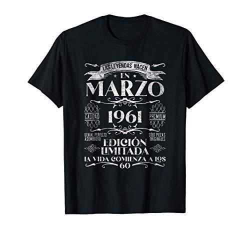 Las Leyendas nacen en Marzo de 1961 - 60 años Cumpleaños Camiseta