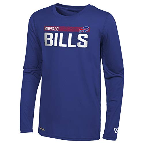 New Era NFL Men's Measured Dri-Tek Long Sleeve Tee, Buffalo Bills Royal X-Large