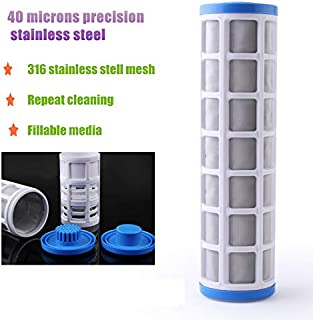 Fumak: Water Filter Accessories 10 inch SS304 Pre-Filter Core 40 Microns Stainless Steel Wire Mesh Insert 10