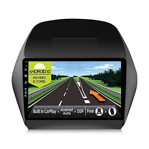 JOYX Android 10 Autoradio Compatibile Hyundai IX35 (2010-2017) - [4G+64G] - [Built-in DSP/Carplay/Android Auto] - LED Camera Canbus GRATUITI - BT5.0 DAB Volante 4G WiFi 360-Camera - 10.1 Pollici 2 Din