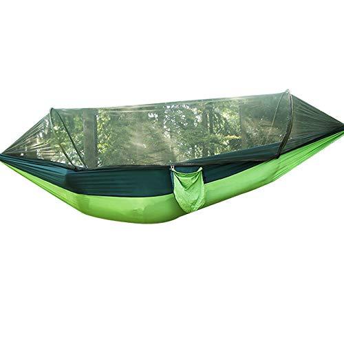 Vlook 1-2 Personen Hängematte, tragbare leichte Nylonschaukel, mit Moskitonetz und Aufbewahrungstasche, fern von Mücken, für Outdoor-Wanderungen