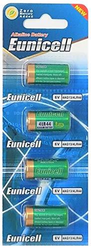4 x 4LR44 6V (1 Blister a 4 Batterien) Quecksilberfreie Alkaline Batterien PX28, 4G13, 476A, L1325 EINWEG Markenware EUNICELL