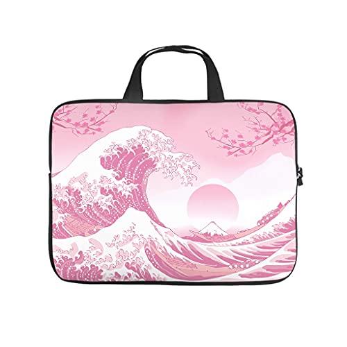 Livianos japoneses Ukiyo-e Surfing - Funda para portátil Surf, White (Blanco) - Elucassi-stdnb