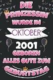 Die Prinzessin Wurde Im Oktober 2001 Geboren Alles Gute Zum Geburtstag: Geburtstag geschenke für frau, Geschenk für 20 jahre, Lustig ... , Geburtstags für ältere frauen