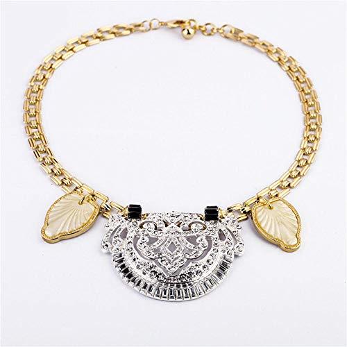 YmeStars Collar para Mujer Estilo Carnaval, Estilo Vintage, Bohemio, étnico, Gitano, con Diamantes de imitación