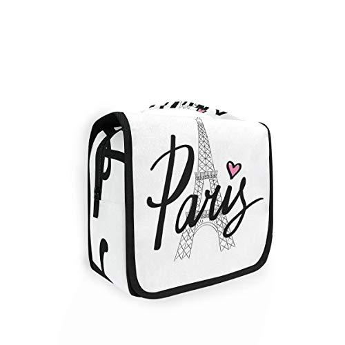 Bolsa de aseo para colgar French Paris City Effie Tower de viaje, gran bolsa de lavado para mujer, bolsa de cosméticos para mujeres, niñas y niños