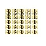 Rzdeal Mini-Scharniere aus Kupfer, 8 x 10 mm, Klappscharniere mit Nägeln für Puppenhaus,...