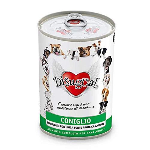 Disugual Monoproteico Coniglio Cibo Umido Ipoallergenico per cani adulti - 400 gr