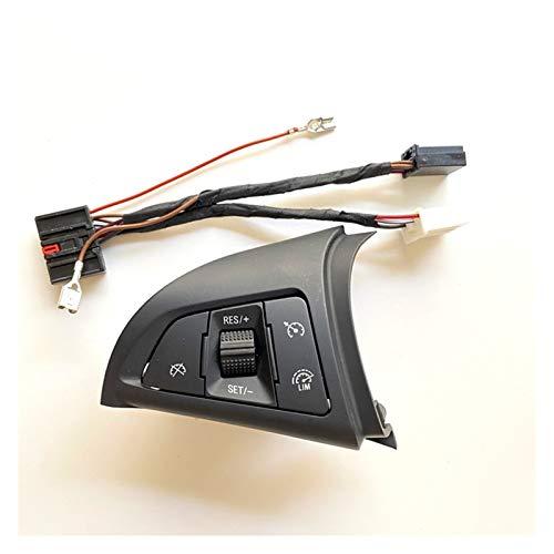 Crying Ajuste para Chevrolet Cruze 2009-2014 Botón multifunción Multifunción Botón de Control de Crucero Interruptor de Control de Audio Bluetooth Control de Velocidad de cruceros (Color : with LIM)