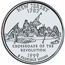 1999 D New Jersey State Quarter Choice Uncirculated