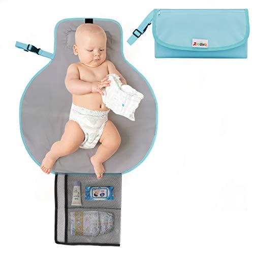 Portable Diaper Changing Pad /Étanche Baby Diaper Changing Station avec Head Pillow pour Home Travel Outside Portable Nappy Matelas /à Langer