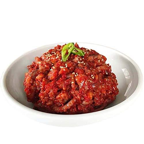 タコキムチ タコの塩辛 500g 韓国食品 本場のピリ辛味 たこの塩辛 たこキムチ 漢拏 halla