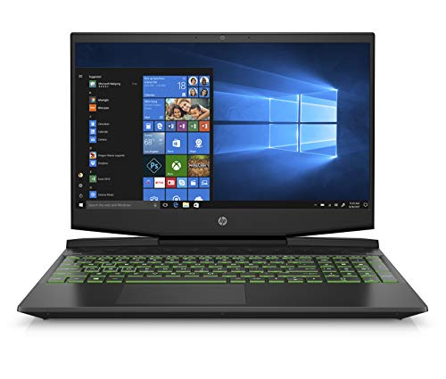 HP Pavilion Gaming 15-Inch Micro-EDGE Laptop, Intel Core i5-9300H, NVIDIA GeForce GTX 1660 Ti with Max-Q (6 GB), 8 GB SDRAM, 256 GB SSD, Windows 10 Home (15-dk0030nr, Shadow Black/Acid Green)