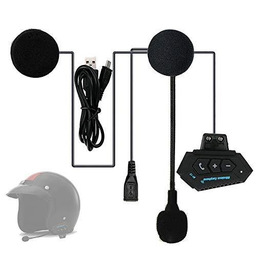 FJYDM Auriculares Inalámbricos para Motocicleta, Auriculares con Bluetooth 4,1 para Motocicleta, Sistema De Intercomunicación De Comunicación para Casco para Motocross, Motocicleta, Esquí