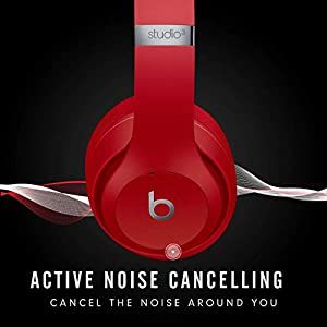 Beats Studio3 Wireless Over‑Ear Headphones - Red (Latest Model)