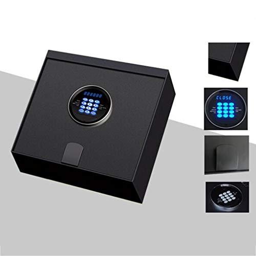Cajas fuertes Inteligente Segura Tirón Safe Cajón Invisible Segura Pequeño Mini Caja De Almacenamiento For Uso Doméstico Comercial Caja De Seguridad (Color : Black, Size : 32.4 * 32.4 * 11.4cm)