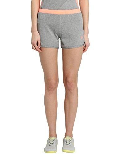 Ultrasport - Pantalones Cortos de Fitness para Mujer, Gris/Coral, Talla S