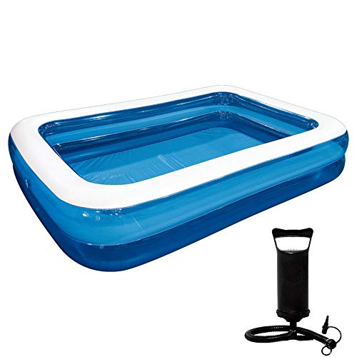Piscina Inflable Piscina Familiar Grande, Piscina Portátil con Bomba Inflable 200 * 150cm